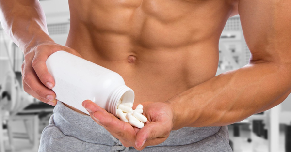 fit guy who is taking pills